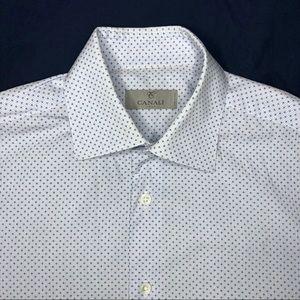 Canali Geometric Pattern Dress Shirt